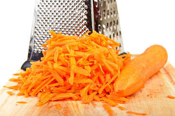 Shredded and whole carrot