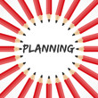 Planning word with pencil background stock vector