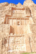The tomb of king Daeiros carved in Naqsh-e Rustam, Shiraz, Iran.