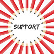support word with pencil background stock vector