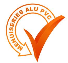 menuiseries alu pvc sur symbole validé orange
