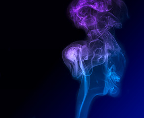 Blue and magenta smoke