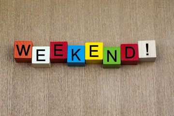 Weekend - sign.