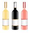 Rotweinflasche, Weißweinflasche, Roseweinflasche