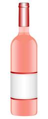 Roseweinflasche freigestellt