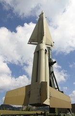 rocket with military explosive warhead for the war 8