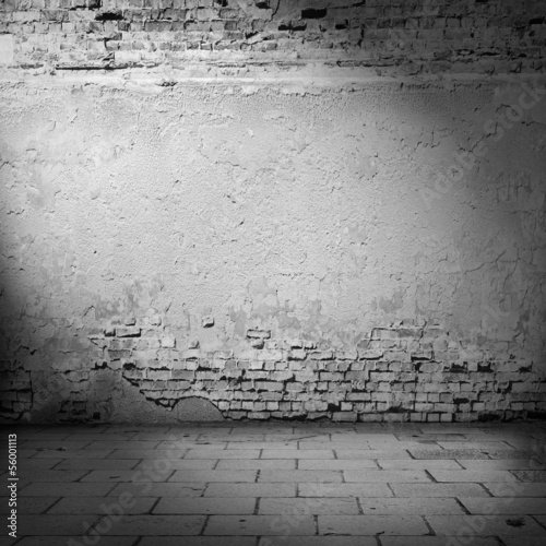 old wall texture halloween background in basement beam of light