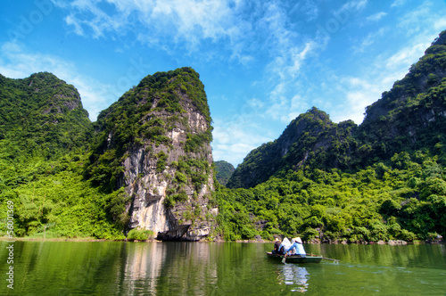 Floating travel in TrangAn,NinhBinh, Vietnam, Southeast Asia