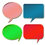 colorful 3d speech bubbles