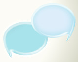 blue 3d speech bubbles