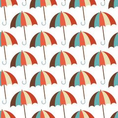 Seamless Pattern Retro Umbrellas