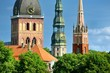 Latvian church towers in Riga