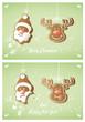 karte weihnachten rentier weihnachtsmann – vektor
