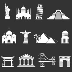 World sights icons