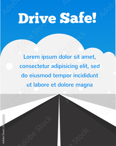 drive carefully at winter time - 56003153