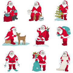 Santa Claus Christmas set - for design and scrapbook