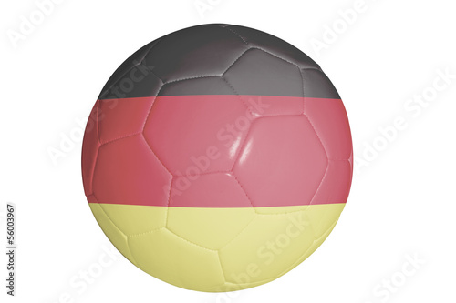 Soccer ball with flag of Germany graphic