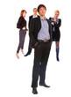 three people Business team