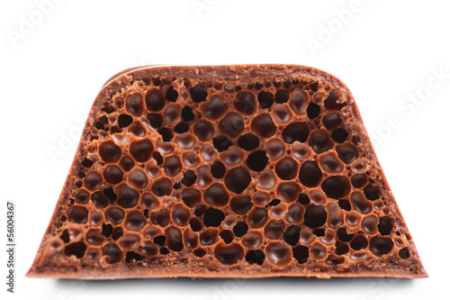 Air porous chocolate.