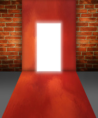 Lighting door in imagination room