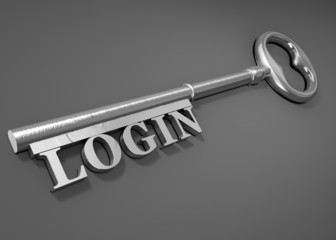 Login key - Security concept