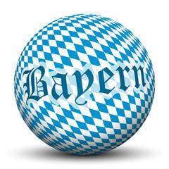 Kugel, Bayern, München, Muster, Ball, Raute, Fahne, 3D, Deko
