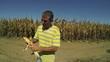 Farmer Checking his Corn Crop