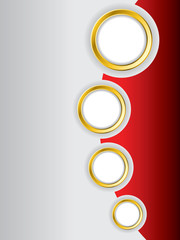 Red brochure design background template