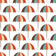 Retro Umbrellas Seamless Pattern