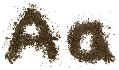 Soil Alphabet. Letters A