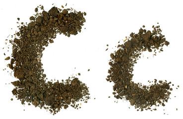 Soil Alphabet. Letters C