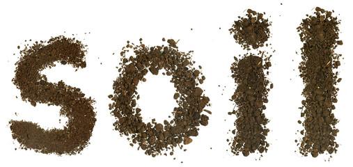 Soil word made of soil