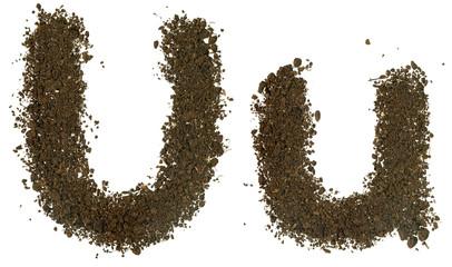Soil Alphabet. Letters U