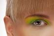 colourfully painted eye