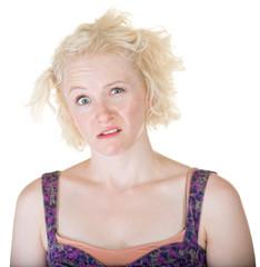 Crazy Blond Lady