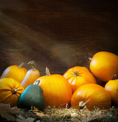 Art autumn Pumpkin thanksgiving background
