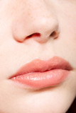 Human nose and lips