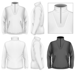 Men's fleece sweater design template