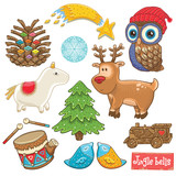 Vector toys set for Christmas holidays