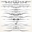 Ornamental Rule Lines in Different Design - 56009958