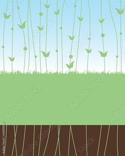 Vector abstract nature background