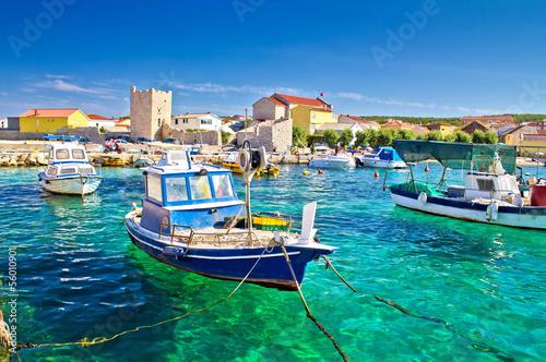 Aluminium Adriatic Town of Razanac colorful waterfront
