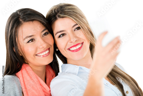 Girls taking a self protrait