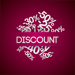 Background with percent discount