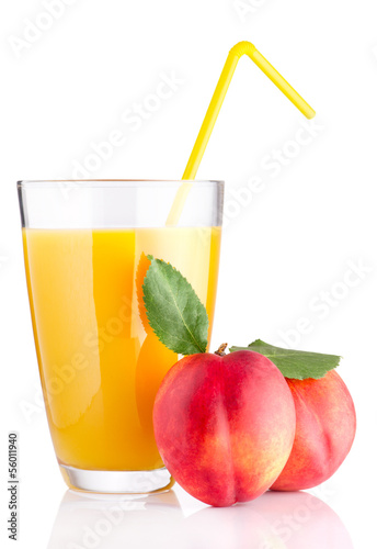 Fresh peach juice