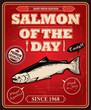 Vintage Salmon poster design