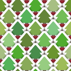 Layered Christmas Tree Seamless Background
