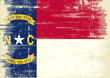 North Carolina grunge Flag.