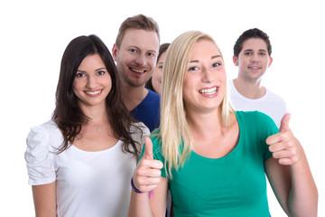 Gruppe junge Leute isoliert als Studenten, Schüler, Jugendliche