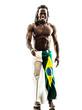 brazilian  black man walking smiling